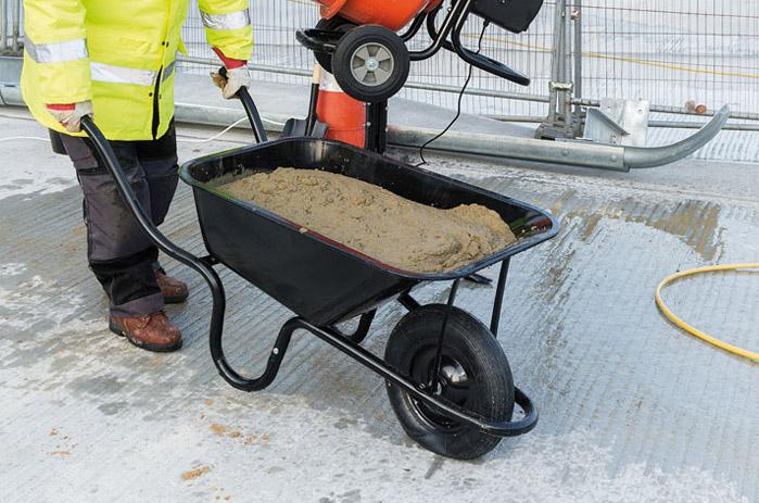 Metal Tray Contractors Wheelbarrow 85L - Hickman & Love