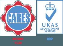 Cares & UKAS Logo